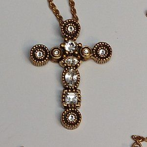 Patricia Locke Cross Necklace Gold Plate